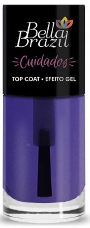 Esmalte Finalizador Top Coat Efeito Gel FREE 8ml - Linha Cuidados Bella Brazil