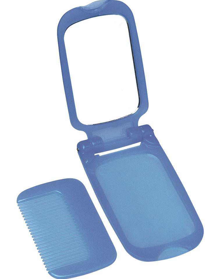Espelho Plástico Infantil Para Bolsa Com Pente - 01 Unidade