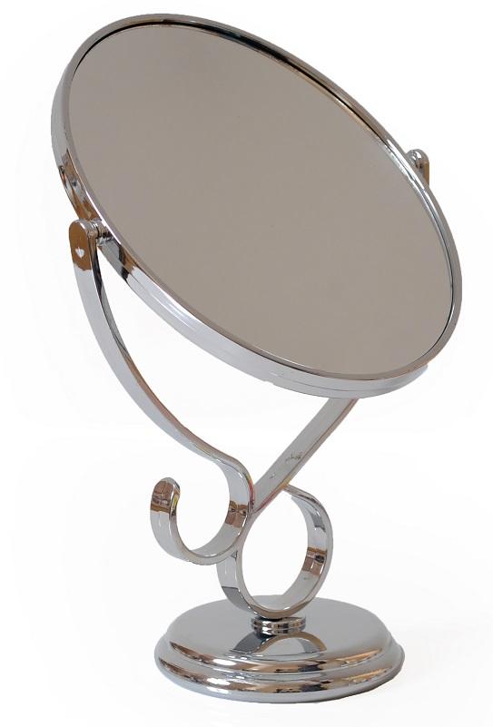 Espelho Prateado Oval De Plástico Para Bancada - 01 Unidade Importado
