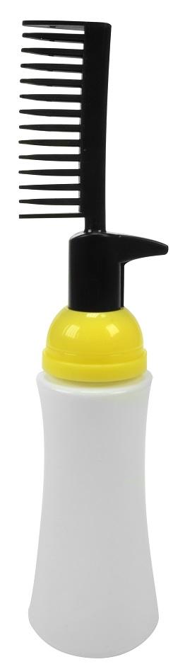 Frasco Plástico Com Pente Aplicador Para Tintura Válvula Pump