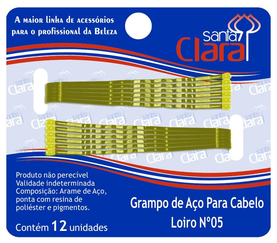 Grampo De Aço Para Cabelo Loiro N° 5 - 12 Unidades