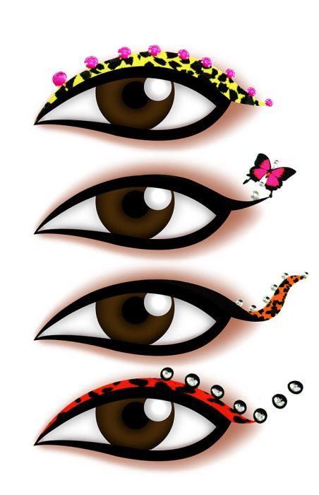 Kit Delineador Adesivo Para os Olhos  EYE-1900