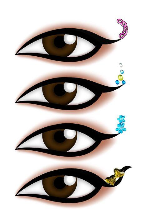 Kit Delineador Adesivo Para os Olhos EYE 1901