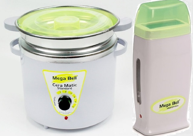 Kit Panela Depilação Termocera 700gr Com Refil Branca Com Verde Limão + Aquecedor de Cera Roll-on Ve