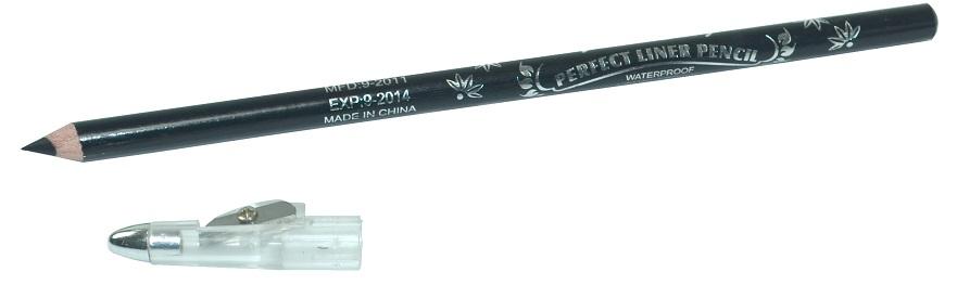 Lápis De Olho Preto Com Apontador Importado - 01 Unidade