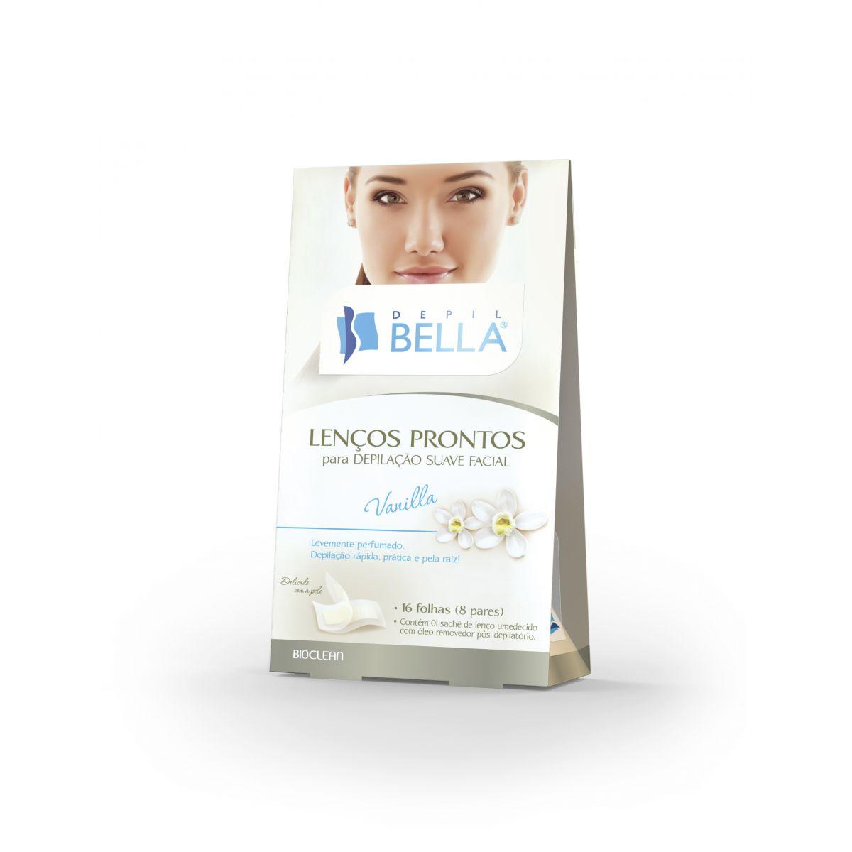 Lenços Prontos Depilação Suave Facial Vanilla 16 Folhas