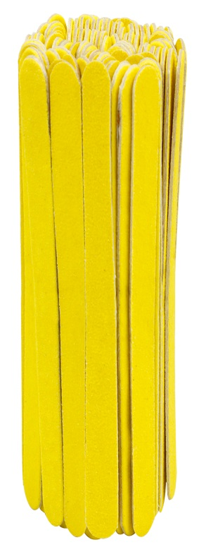 Lixa Para Unha Popular Amarelo Canário Com 100 Unidades - Santa Clara