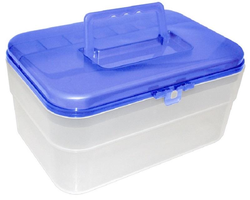 Maleta Bicolor Compacta Azul com Tampa removível