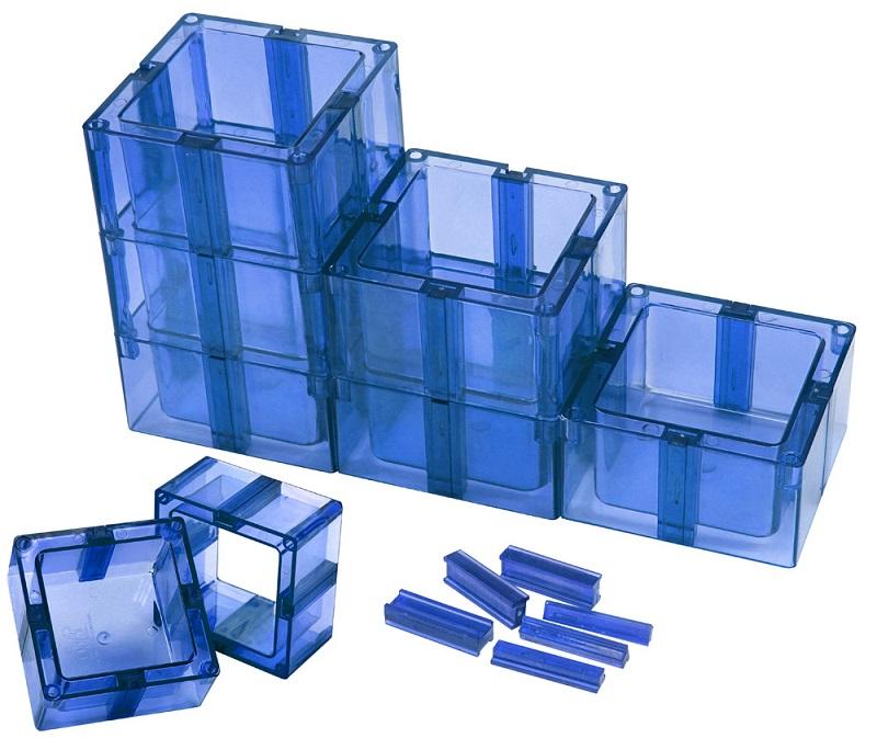 Organizador Multiuso Montável Sem Fundo Azul - Santa Clara