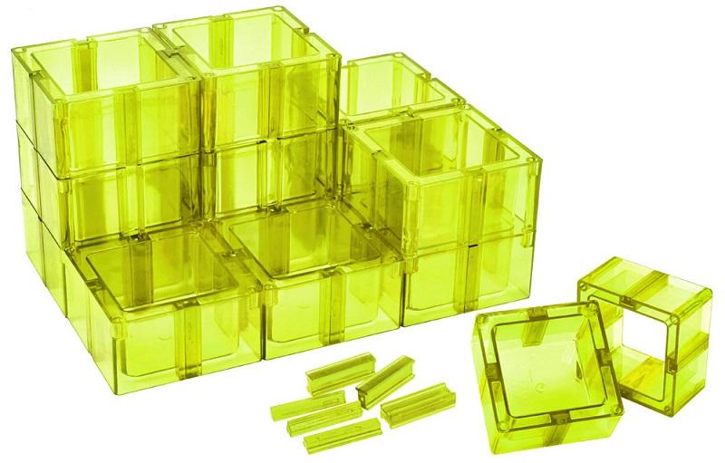 Organizador Multiuso Verde Limão Montável Santa Clara