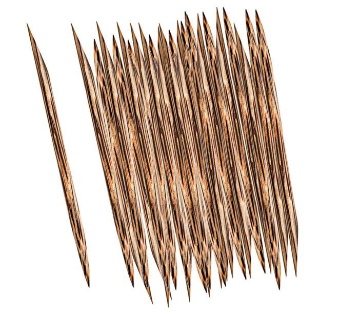 Palito para Unhas Modelo Indiano Ponta Chanfrada 25 Unidades