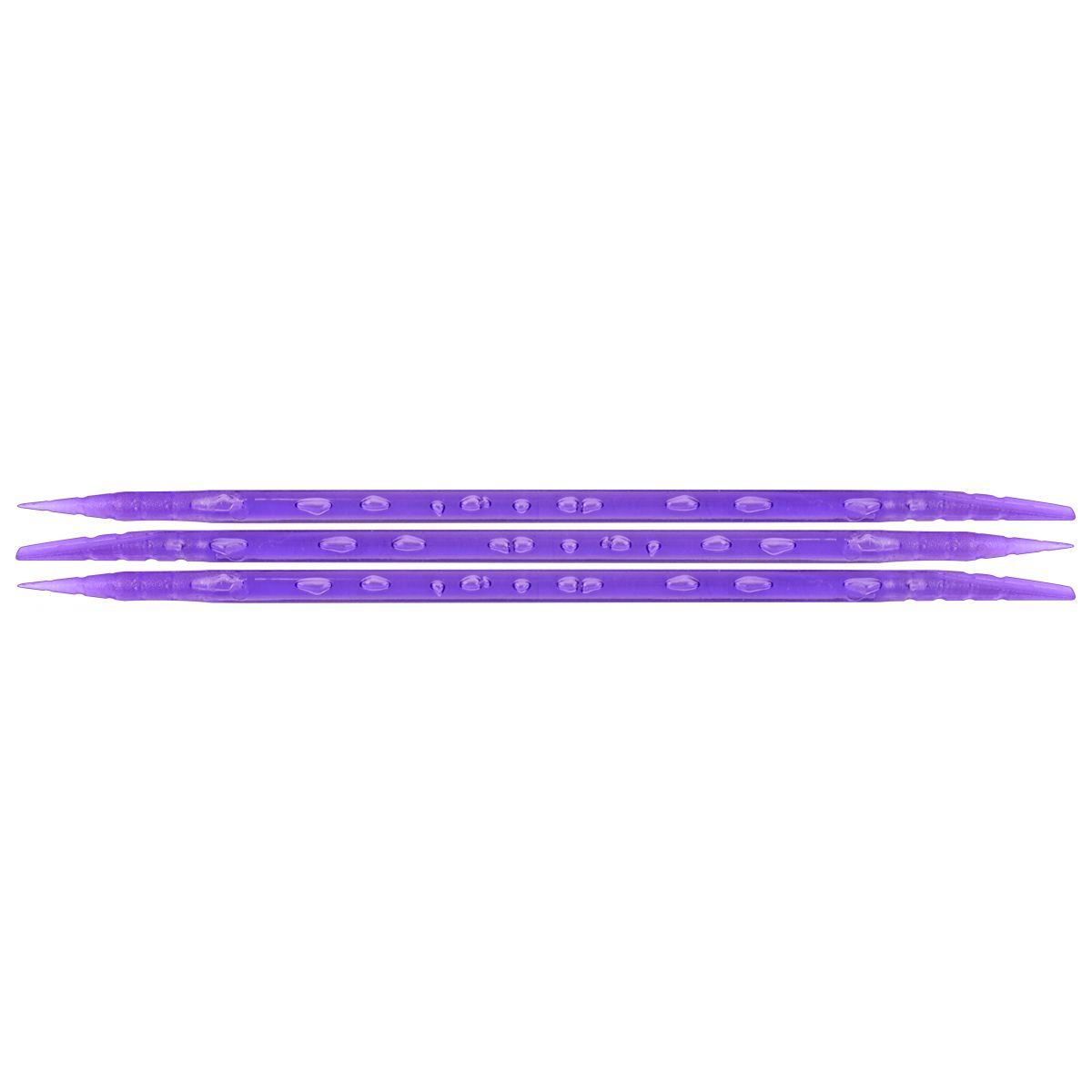 Palito Plástico Lilás Para Manicure Descartável 100 Unidades