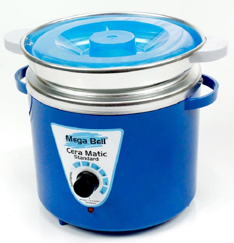 Panela Termocera para depilação Standard 700g - Bivolt Corpo Azul Com Refil