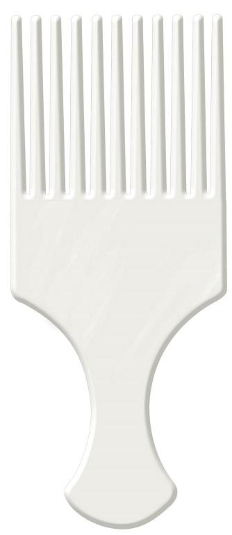 Pente Afro Branco Com Dentes Largos - Santa Clara