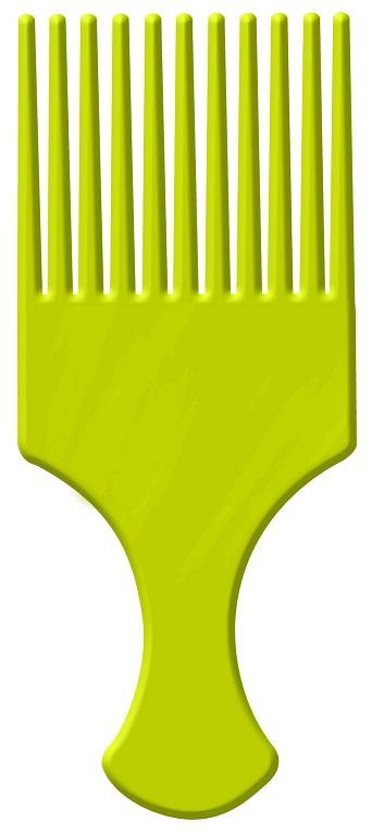 Pente Afro Verde Com Dentes Largos - Santa Clara