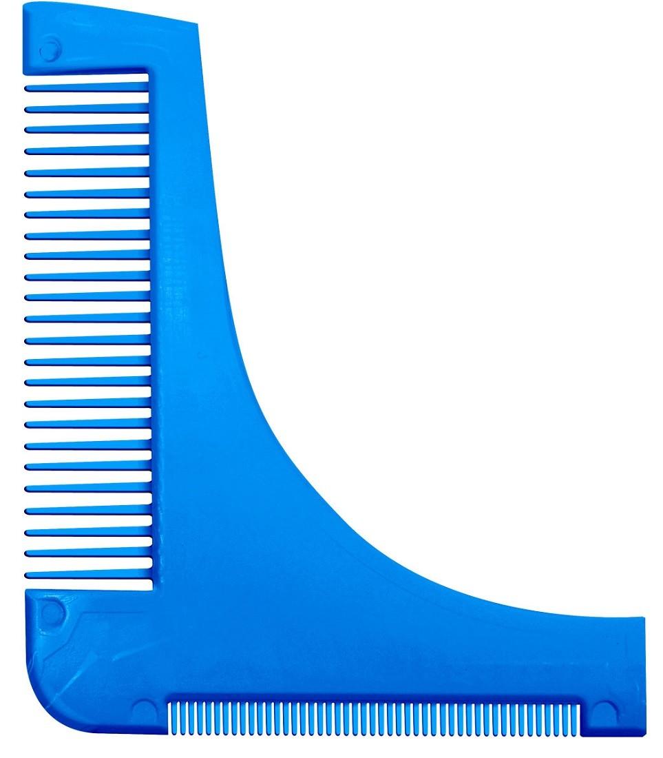 Pente Azul Modelador / Alinhador de Barba - Santa Clara