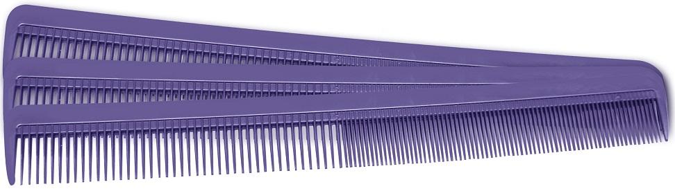 Pente De Plástico Long Lilás Suporta 180º - 01 Ou 12 Unidades Santa Clara