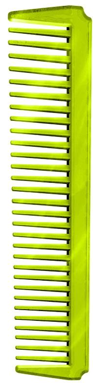 Pente Plástico Espetacular Em PS Cristal- Verde Limão