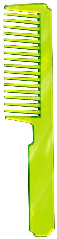 Pente Plástico Esplêndido em PS Cristal Verde Limão - Santa Clara