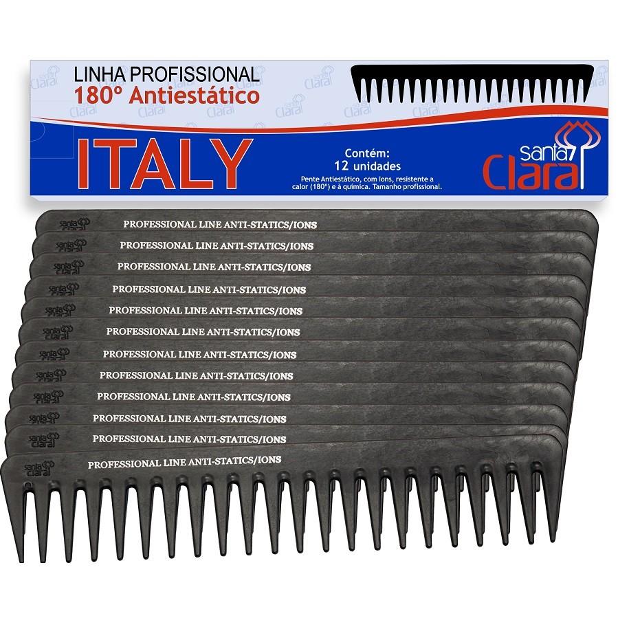 Pente Plástico Italy Em Nylon Anti-estático Íon Suporta 180º - 01 Ou 12 Unidades