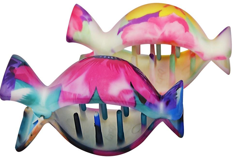 Piranha Grande Formato Divertido Estampada Para Cabelos - 02 Unidades