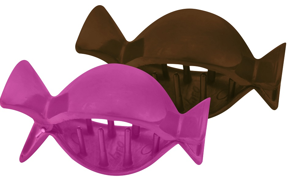 Piranha Grande Formato Divertido Lisa Para Cabelos - 02 Unidades