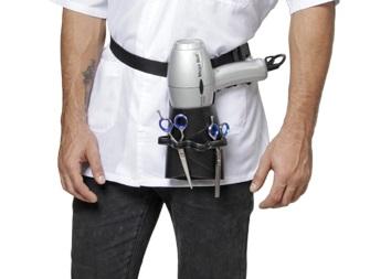Porta Secador e Acess�rios De Couro Modelo Vita Para Cabeleireiros