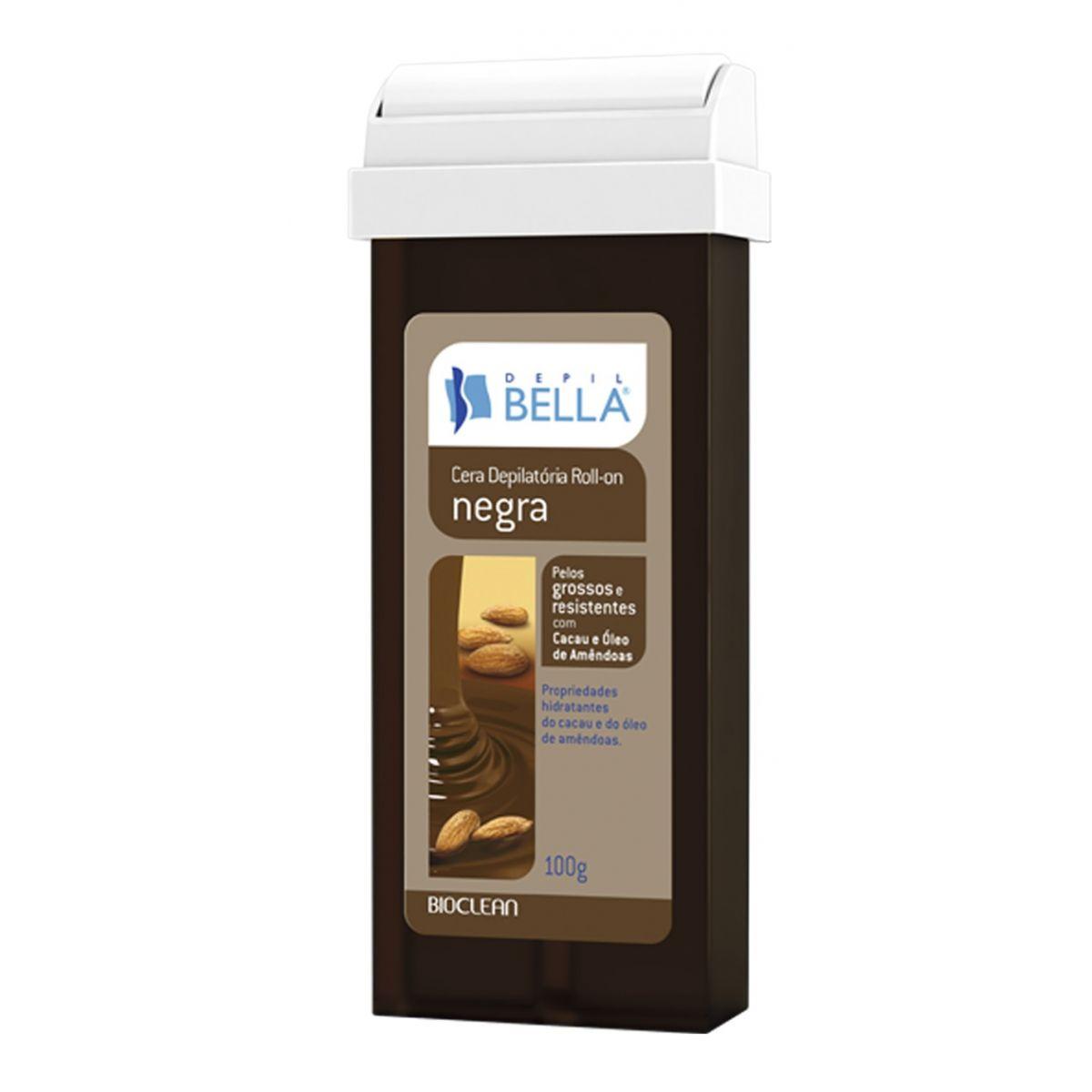Refil de Cera Roll-on Depil Bella - Negra Pêlos Grossos