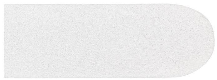 Refil De Lixa Fina Branca Para Os Pés Descartável - 12 Unidades