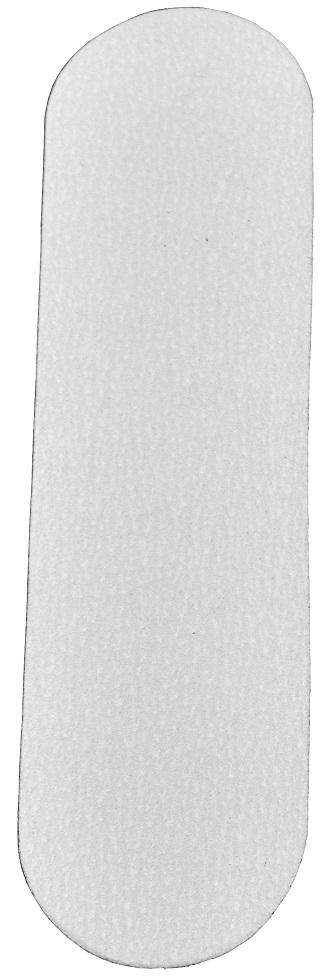 Refil De Lixa Grossa Branca Para O Pé - 12 Unidades