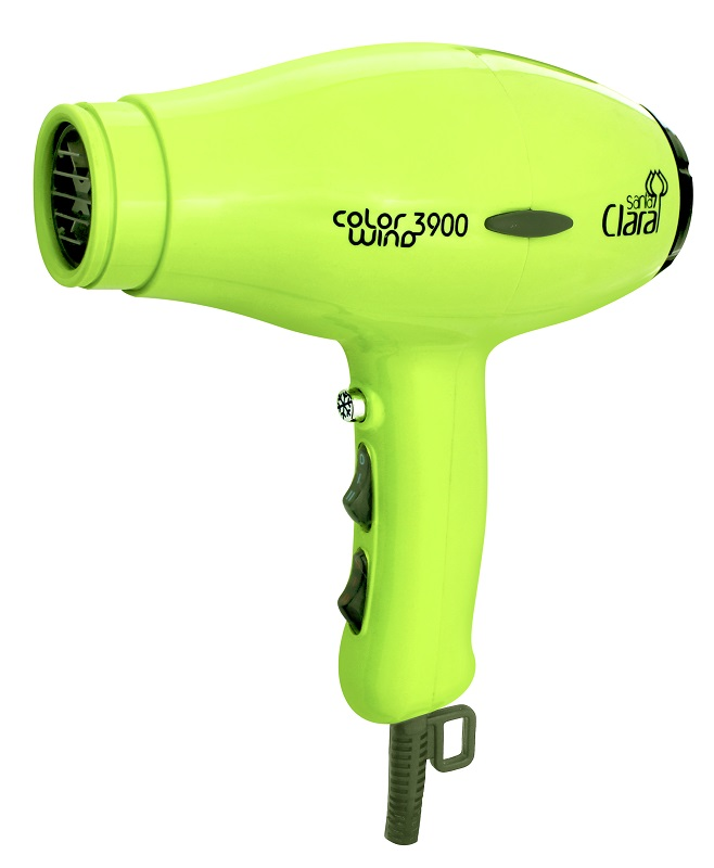 Secador De Cabelos Profissional Color Wind Santa Clara - 2100watts Verde Limão 110v