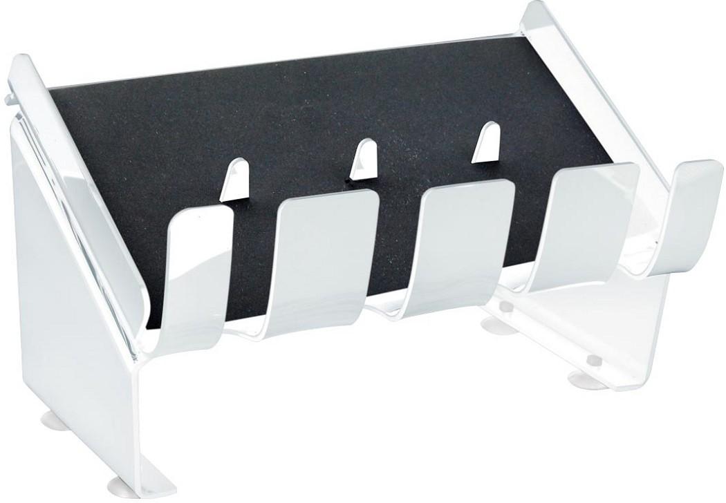 Suporte Acrílico 3mm Transparente Para até 4 Maquinas de Corte - Santa Clara