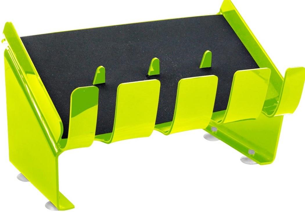 Suporte Acrílico 3mm Verde Limão Para até 4 Maquinas de Corte - Santa Clara