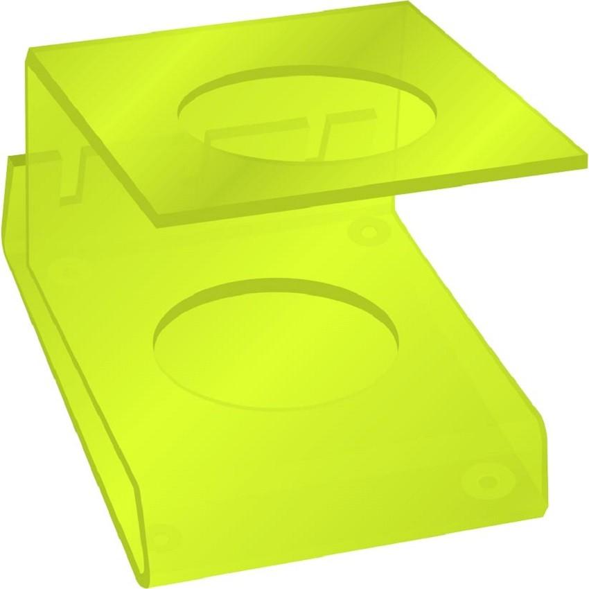 Suporte Acrílico 5mm Verde Limão Para Máquina de Corte - Santa Clara