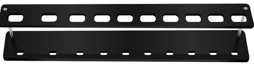 Expositor Acrílico 5mm Preto com 10 Cavidades Para Pincéis - Santa Clara
