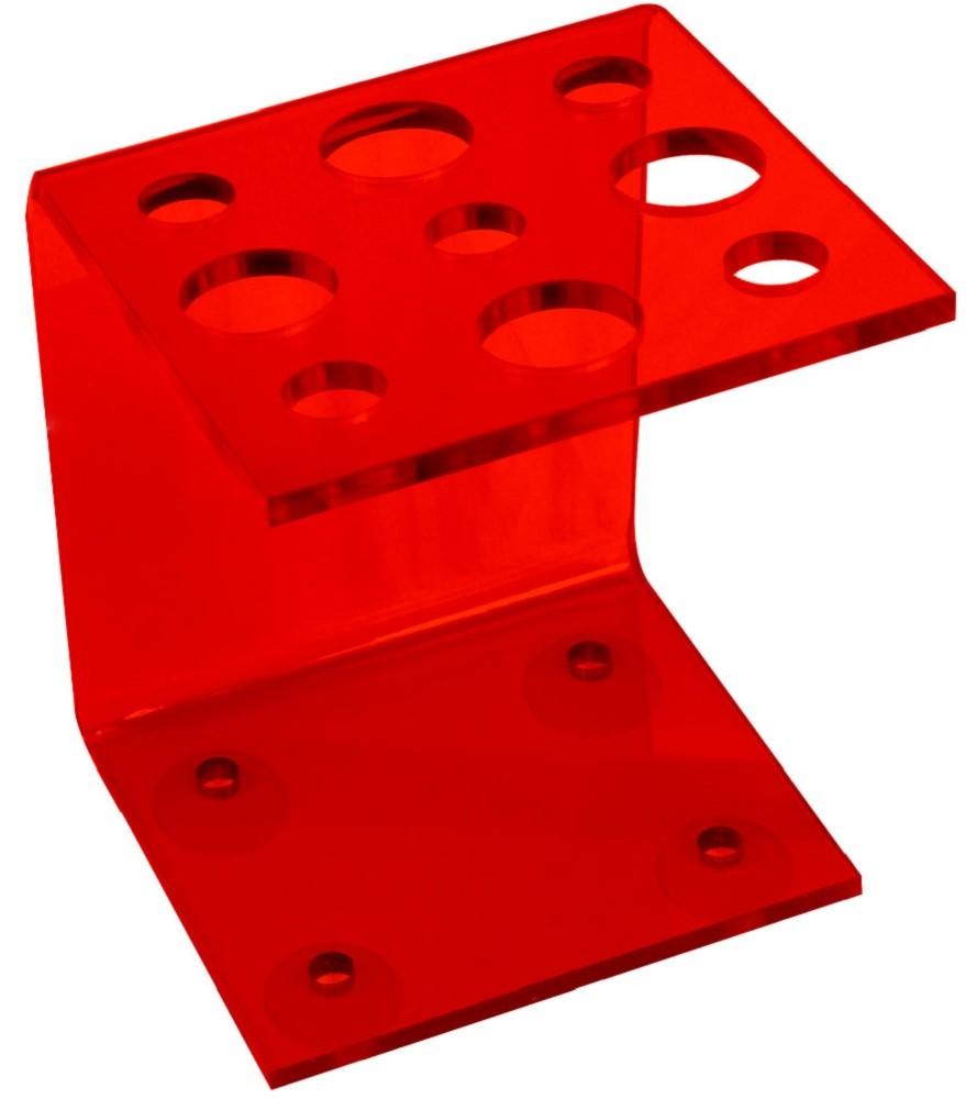 Suporte Acrílico Vermelho 3mm para Tesouras Modelo Vertical - Santa Clara