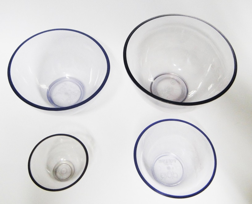Tigela Cubeta Transparente Flexível em PVC - Pacote Com 06 Unidades