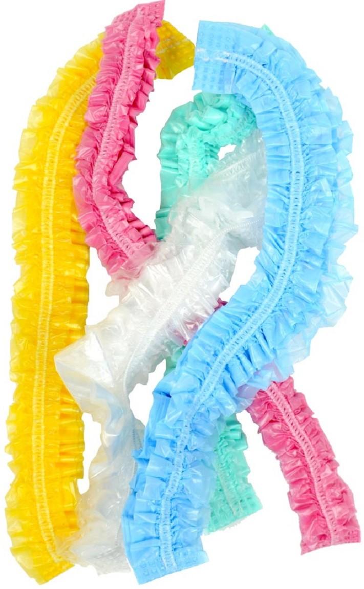Touca Plástica para Banho Descartável Colorida 100 unidades - Santa Clara