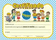 CERTIFICADO AMIGOS  DE MISSÕES  - LOJA VIRTUAL UFMBB