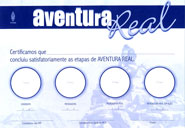 CERTIFICADO DE AVENTURA REAL  - LOJA VIRTUAL UFMBB