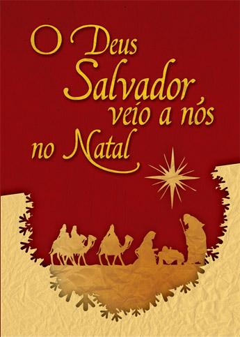 CARTÃO -  O DEUS SALVADOR VEIO A NÓS NO NATAL  - LOJA VIRTUAL UFMBB