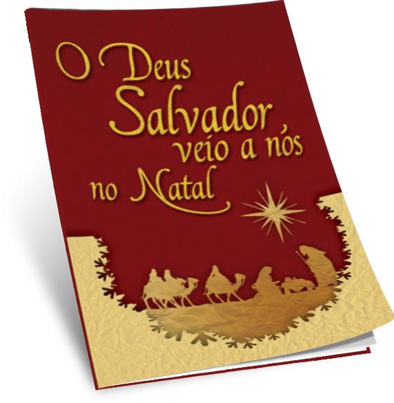 KIT CARTÃO (100 und) -  O DEUS SALVADOR VEIO ATÉ NÓS NO NATAL  - LOJA VIRTUAL UFMBB