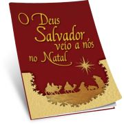 KIT CARTÃO (100 und) -  O DEUS SALVADOR VEIO ATÉ NÓS NO NATAL