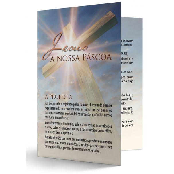 FOLHETO JESUS- A NOSSA PÁSCOA - UNIDADE  - LOJA VIRTUAL UFMBB