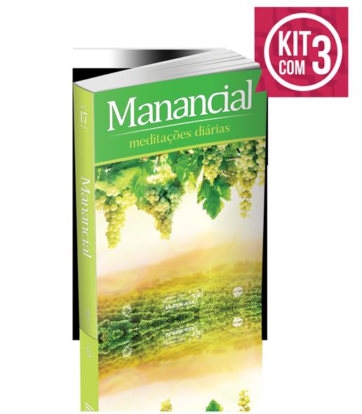 KIT COM 3- MANANCIAL TRADICIONAL  Vol. 17  2020  - LOJA VIRTUAL UFMBB