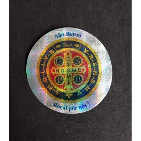A15 - Adesivo Medalha São Bento 90mm Duplo