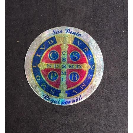 A19 - Adesivo Medalha São Bento 120mm