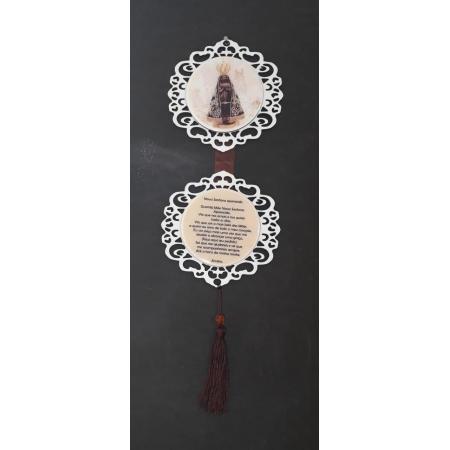 AD06 - Adorno de Porta Madeira 13cm Nossa Senhora Aparecida