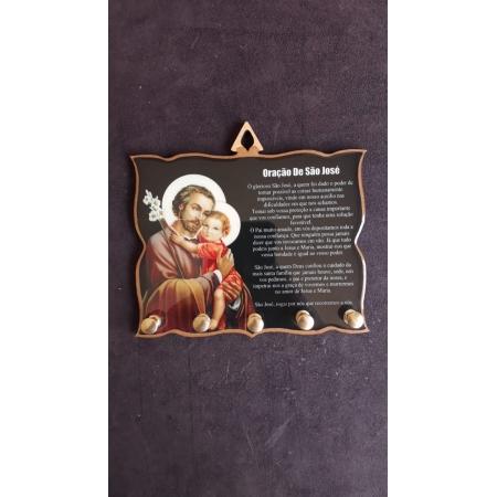 AD64 - Porta Chave Oração São José 12cmX15cm