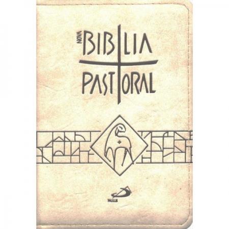 Biblia Sagrada Nova Ed. Pastoral Bolso Ziper Bege